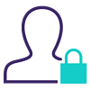 Person with lock icon